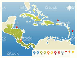 Map Caribbean Sea by Caribbean Sea Clip Art Vector Images U0026 Illustrations Istock