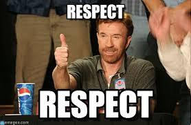 Respect Meme - respect chuck norris approves meme on memegen