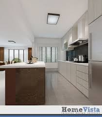 4 room hdb bto open concept kitchen at fernvale link