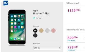 bouygues telecom si e l iphone 7 plus noir de jais en stock chez bouygues telecom