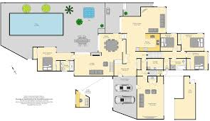 House Plans With A Pool Big House Designs Floor Plan With Large Swimming Pool And Backyard