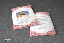 Paper For Funeral Programs Funeral Program Template Brochure Templates Creative Market