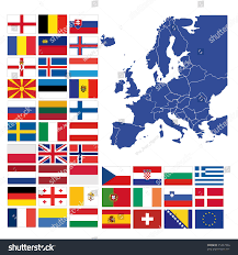 European Flags Images All European Flags Map Europe Stock Illustration 25237924