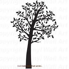 tree vinyl tree wall decals kit 59 wide by 84