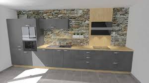 cuisine gris laqué cuisine grise et bois inspirations avec cuisine gris laque et