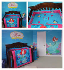 bedding for little girls mermaid nursery bedding for girls here u0027s how it looked as a