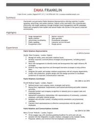 public relations cv example for marketing livecareer