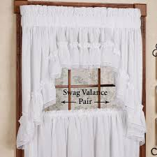 Ruffled Kitchen Curtains by Curtain Curtains Dramatic Jcpenney Trends And Swag Foritchen