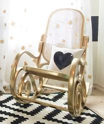 Wooden Rocking Chair For Nursery Black White And Gold Nursery Project Nursery