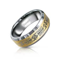 mens celtic rings gold tone mens celtic tungsten band ring 8mm