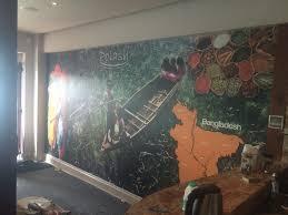 custom wallpaper for a restaurant polash glouscter big print