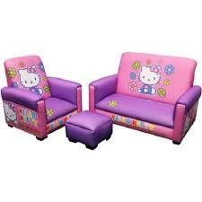 hello kitty toddler sofa chair set 3 piece pink furniture girls