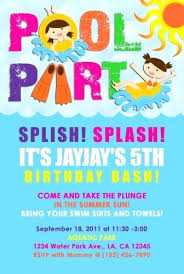 swim party invitations as well as swim party invitation poolside