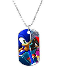 custom dog tag necklace sonic the hedgehog custom dog tag with neck chain
