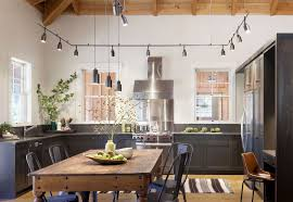 Kitchen Table Pendant Light - contemporary kitchen with wood counters by nb design group inc