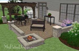 Large Pavers For Patio Paver Patio Designs With Pit Free Home Decor