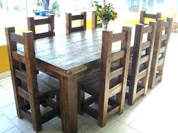 rustic square dining table square wood dining table rustic 9 square wood dining table and chair