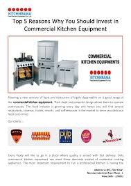 why you should invest in commercial kitchen equipment