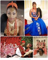 traditional wedding igbo traditional wedding brides grooms and bridesmaids
