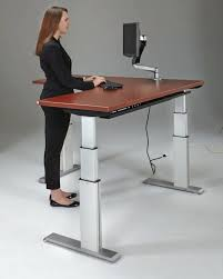 office design flextable a electric or hand crank standing desk