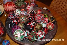 embroidered temari ornaments