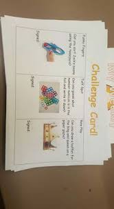During Challenge Challenge Cards During Cp Early Years Classroom Organisation