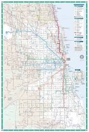 Map Chicago by Chicago Transit Map Chicago Il U2022 Mappery