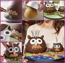 owl cake diy 3d owl cake design recipes tutorials