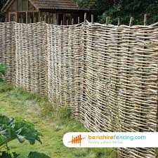 willow hurdles fence panels 6ft x 6ft natural berkshire fencing