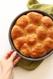 Vegan Gluten Free Bread Machine Recipe Vegan Dinner Rolls Minimalist Baker Recipes