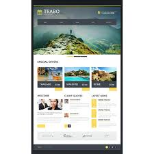 travel agency bootstrap website template 47338 discounted