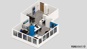 isometric floor plan isometric 3d office pedro donate