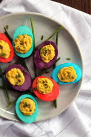 dyed deviled eggs melanie makes
