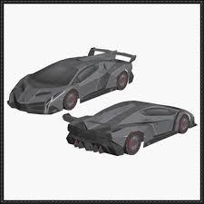 model lamborghini veneno veneno paper car free vehicle paper model