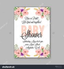baby shower invitation template with watercolor flower wreath