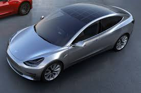 tesla model 3 tesla model 3 with solar roof option push evs