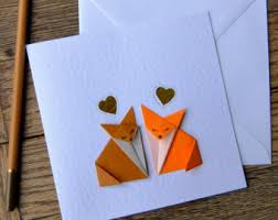 simple handmade origami cards by jackdawfour on etsy
