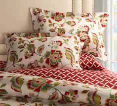 this 3 pc bedding set with a floral vibrant jacobean pattern that