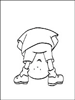 caillou coloring coloring pages