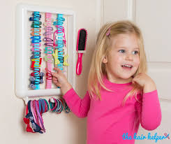 children s hair accessories hair accessory storage for how cool such a clever idea