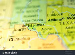 Texas On Map Of Usa by Closeup El Paso Texas On Political Stock Photo 371769931