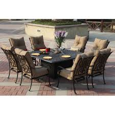Patio Coffee Table Set Darlee Santa 9 Cast Aluminum Patio Pit Dining Set