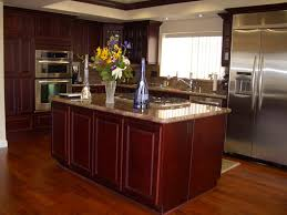 Dark Cabinet Kitchen Designs by Stunning Kitchen With Cherry Cabinets Colors Home Designs Ideas