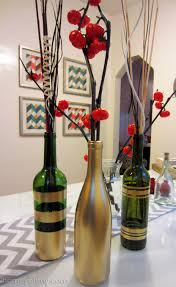 how to decorate a wine bottle for a gift diy spray painted wine bottles for fall decorating