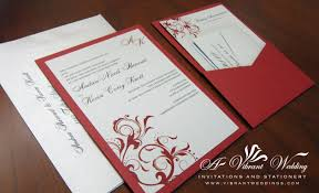 Wedding Invitation Blank Cards Pocket Card U2013 A Vibrant Wedding