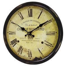 horloge cuisine horloge murale pendule ronde de cuisine ou salon en bois et papier