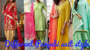 25 different style of punjabi suits how to dress up in different