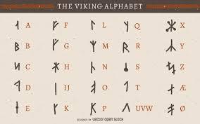 viking writing template viking rune alphabet vector