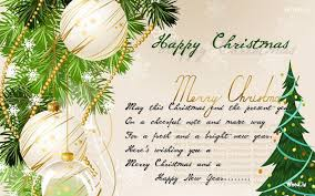happy christmas greeting card messages
