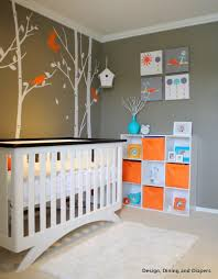 Nursery Paint Colors Baby E U0027s Modern Bird Inspired Nursery Gender Neutral Bright